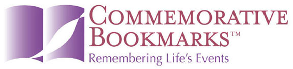 Commerative Bookmarks weddings anniversaries engagements births memorials